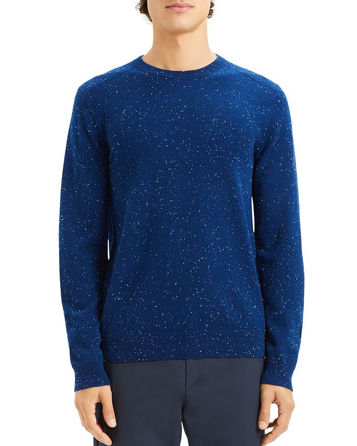 Theory - Valles Tweed Crewneck Cashmere Sweater