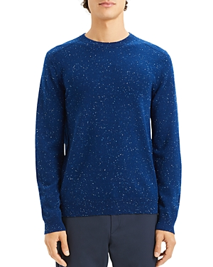 Theory Valles Tweed Crewneck Cashmere Sweater