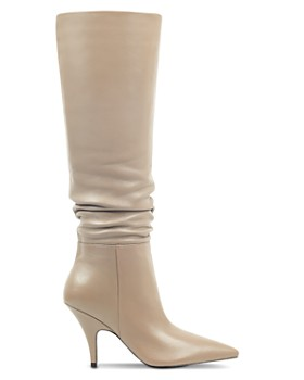 Kendall + Kylie - Women's Calla Leather Pointed Toe Heel-Heel Boots
