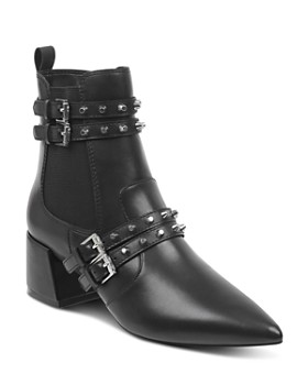 Kendall + Kylie - Women's Rad Pointed Toe Leather Booties