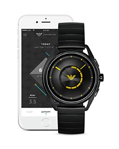 Armani - Black Touchscreen Smartwatch, 43mm