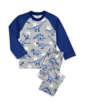 Sara's Prints Girls' Dinosaur Pajama Shirt & Pants Set - Little Kid