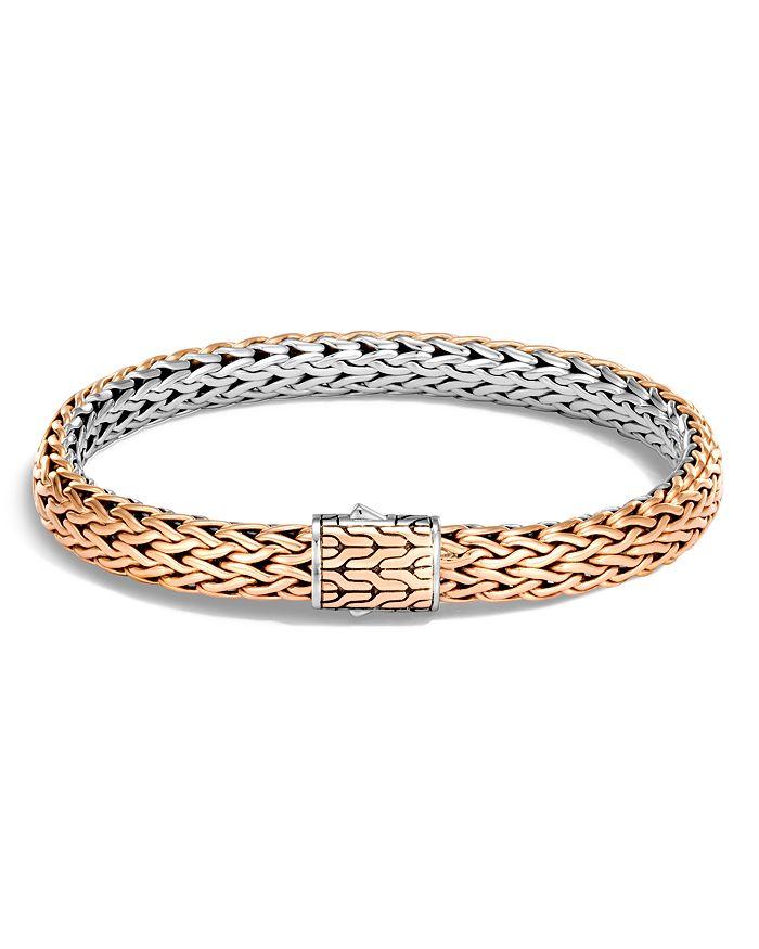 JOHN HARDY - Sterling Silver & Bronze Classic Chain Reversible Flat Chain Bracelet