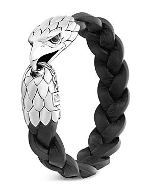 John Hardy Sterling Silver Legends Eagle Black Chalcedony Bracelet