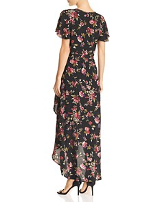 Band of Gypsies - Lianna Floral-Print Wrap Dress