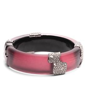 Alexis Bittar - Crystal Accented Lucite Hinge Bracelet