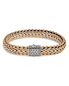 JOHN HARDY - Sterling Silver & Bronze Classic Chain Woven Flat Chain Bracelet
