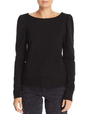 JOE'S Kami Puff-Sleeve Sweatshirt in Black