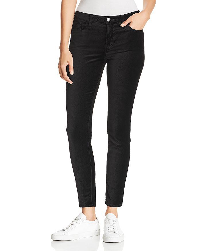 7 For All Mankind - Ankle Skinny Velvet Jeans in Black