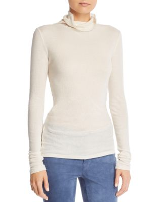 Ribbed Turtleneck Top by Theory