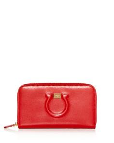 Salvatore Ferragamo - Gancini City Leather Continental Wallet