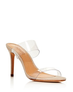 SCHUTZ - Women's Ariella Clear Strap High-Heel Slide Sandals