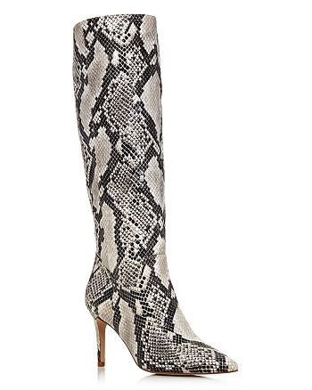 AQUA - Women's Lenni Snake-Embossed Leather Tall Boots