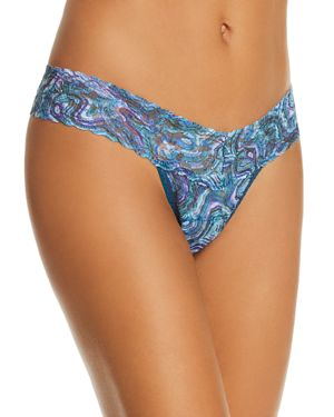 X Kimberly Mcdonald Low-Rise Thong in Multi