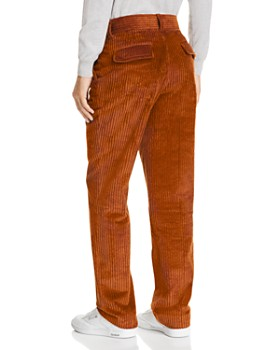 Sandro - Slim Fit Brown Corduroy Pants - 100% Exclusive