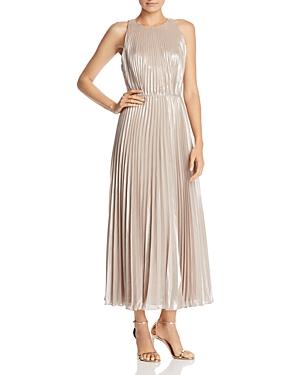 Jill Jill Stuart Metallic Chiffon Gown
