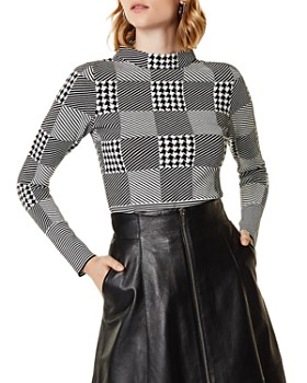 KAREN MILLEN - Check Sweater