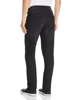 True Religion - Rocco Slim Fit Moto Jeans in Coal Mine