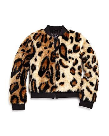 c8915b07 Bardot Junior Girls' Zara Ocelot-Print Faux-Fur Bomber Jacket - Big ...