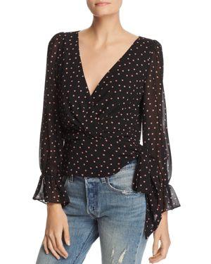 Lucy Paris Kendall Dot Side Tie Blouse