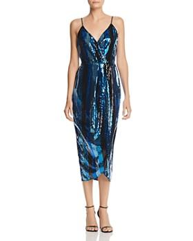WAYF - Stevie Sequin Stripe Slip Dress
