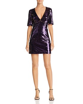 Bardot - Two-Tone Sequin Dress