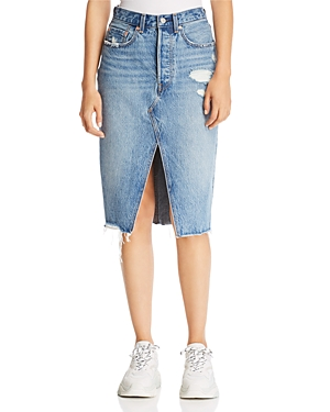 Levi's Deconstructed Denim Skirt in Original Sinner