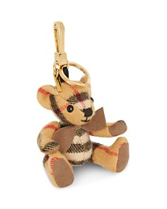 Burberry - Thomas Cashmere Check Bear Charm