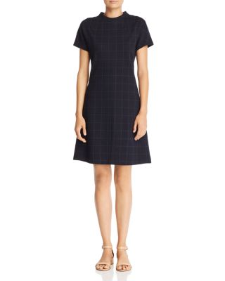 Windowpane Check Dress by Theory
