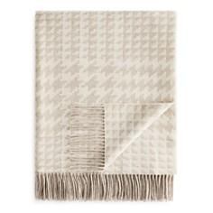 Fraas Houndstooth Wool Throw - 100% Exclusive - Bloomingdale's_0