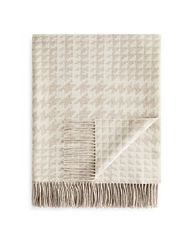 Fraas - Houndstooth Wool Throw - 100% Exclusive