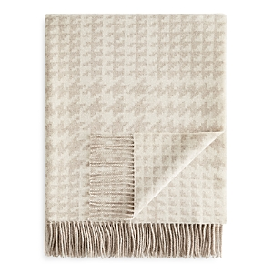 Fraas Houndstooth Wool Throw - 100% Exclusive