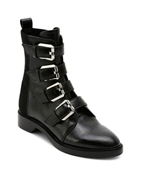 eed94e039e3 Dolce Vita - Women s Gaven Buckled Leather Combat Booties ...