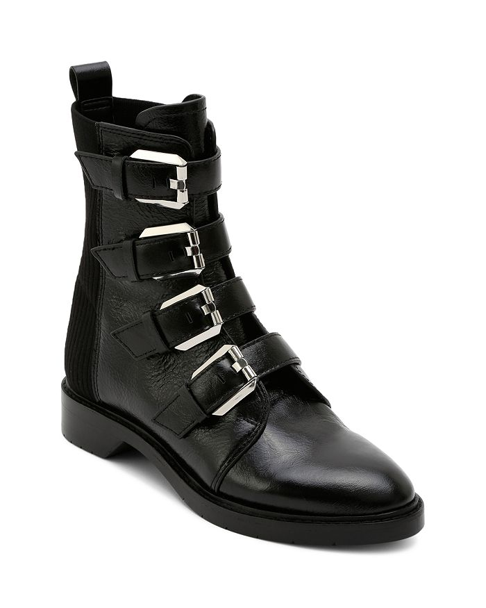Dolce Vita - Women's Gaven Buckled Leather Combat Booties