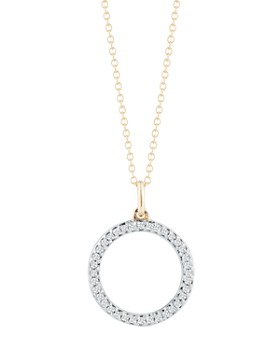 "MATEO - 14K Yellow Gold Diamond Circle Cable Necklace, 16"""