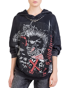 The Kooples Vintage Punk Graphic Sweatshirt