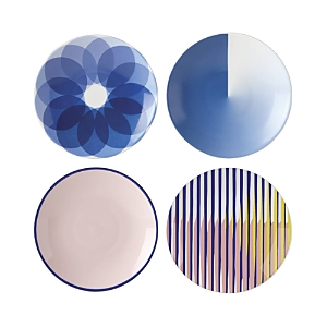 Lenox Domino Technic Assorted Tidbit Plates, Set of 4 - 100% Exclusive