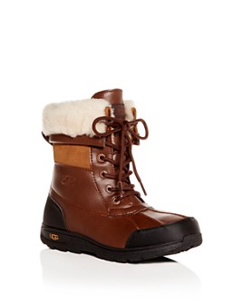 UGG® - Unisex Butte II Waterproof Leather Cold-Weather Boots - Little Kid, Big Kid