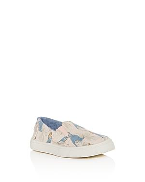Toms x Disney Girls Luca Princess Print SlipOn Sneakers  Baby Walker Toddler
