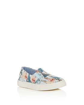 TOMS - Girls' Luca Princess Print Slip-On Sneakers - Baby, Walker, Toddler