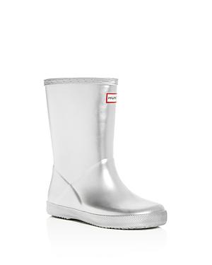 Hunter Girls' First Classic Metallic Rain Boots - Walker, Toddler