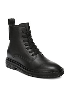 Via Spiga - Women's Kinley Weather-Resistant Leather Combat Boots