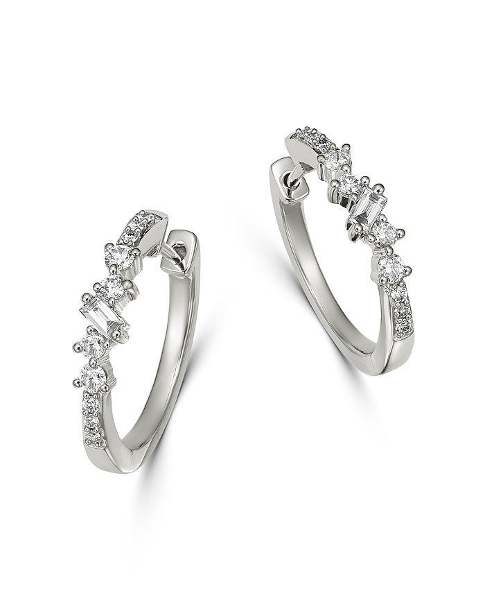 79fab24ba641a8 Bloomingdale's - Diamond Small Geometric Hoop Earrings in 14K White Gold,  0.40 ct. t.w.