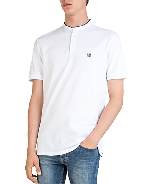 The Kooples Stand Collar Regular Fit Pique Polo