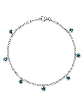 Bloomingdale's - London Blue Topaz Station Dangle Bracelet in 14K White Gold - 100% Exclusive