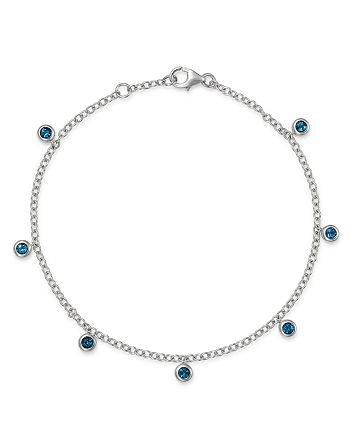 Bloomingdale's - London Blue Topaz Station Dangle Bracelet in 14K White Gold - 100% Exclusive