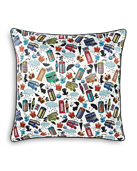 """Robert Graham - A Day in the Life Decorative Pillow, 22"""" x 22"""""""