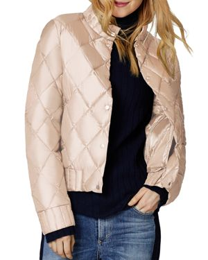 SAGE Collective Angel Quilted Jacket in Pink