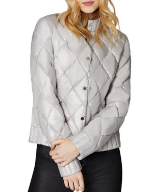 SAGE Collective Angel Quilted Jacket in Pewter