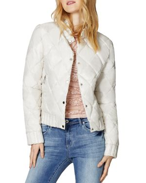 SAGE Collective Angel Quilted Jacket in Sugar